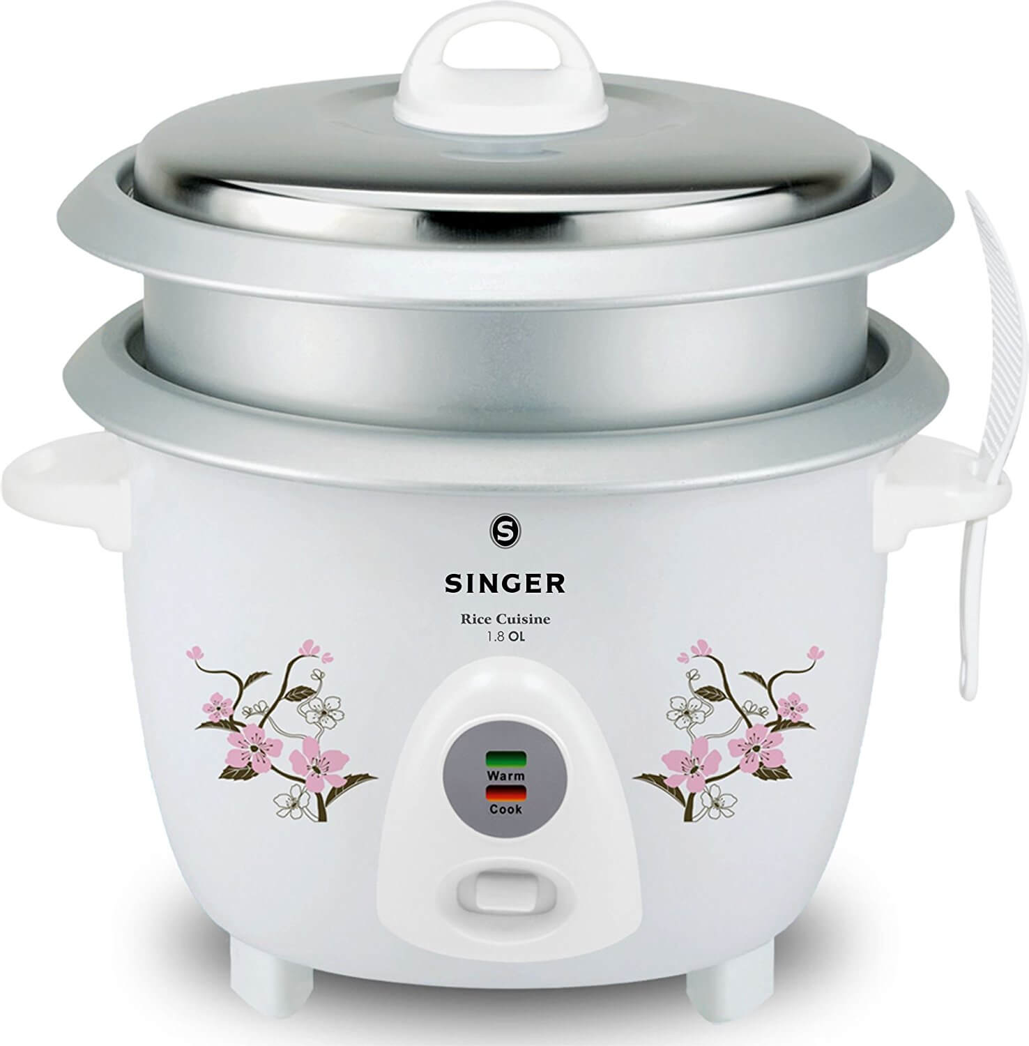 Singer Rice Cuisine 1.8 L Open Lid Rice Cooker 700 watts with 2 Bowls
