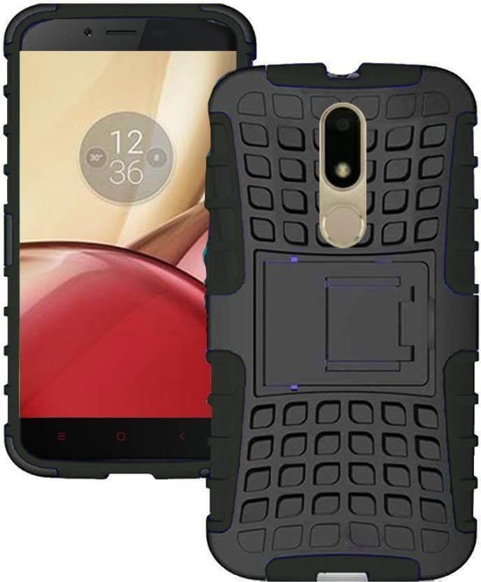 Nutricase Back Cover for Motorola Moto M (Black, Shock Proof, Rubber)