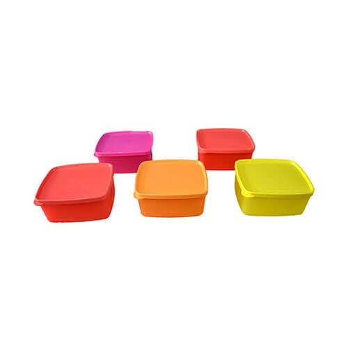 Tupperware Cool N Fresh Plastic Container Set, 500ml, Set of 5, Multicolour