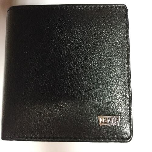 Levis Leather Black Men's Wallet