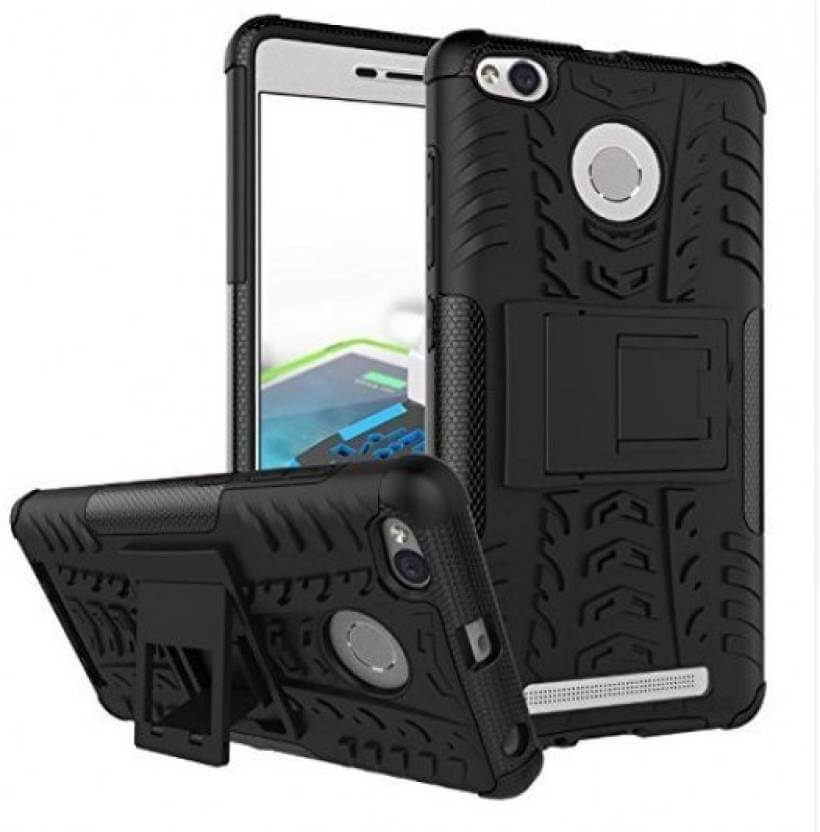 Nutricase Back Cover for Redmi 3 s prime (Black, Shock Proof, Rubber)
