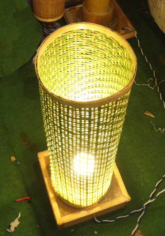 Bamboo Net Coloured Lamp(#118)-gallery-2