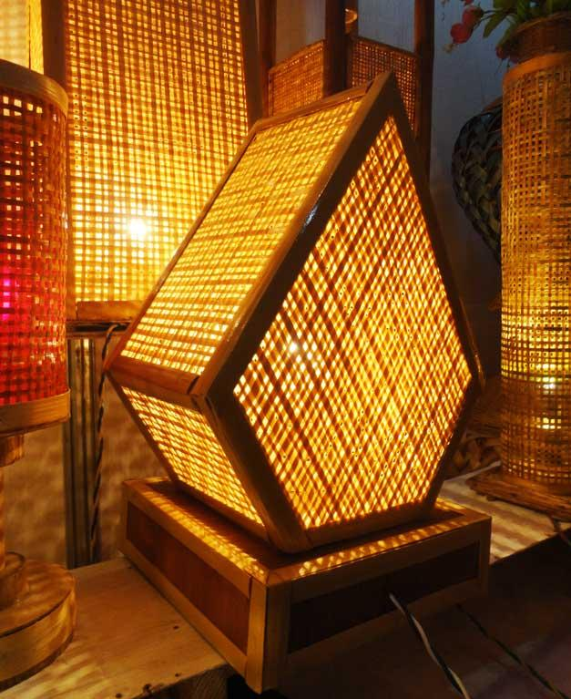 Pentagonal Net Lamp(#124)-gallery-5