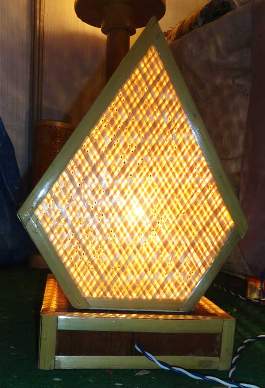 Pentagonal Net Lamp(#124)-gallery-4