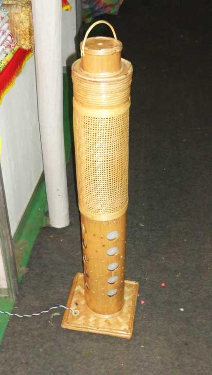 Corner Stand Bamboo Net Lamp(#126)-gallery-2
