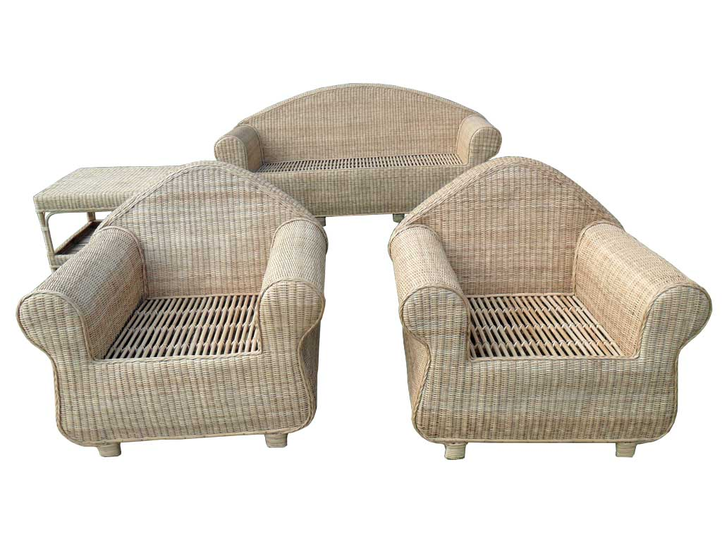 Cane Sofa Set(#141)-gallery-1