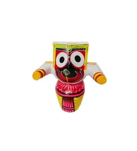 Wooden Idol of Lord JagannathMaa Subhadra Balabhadra Jee(#350)-gallery-1