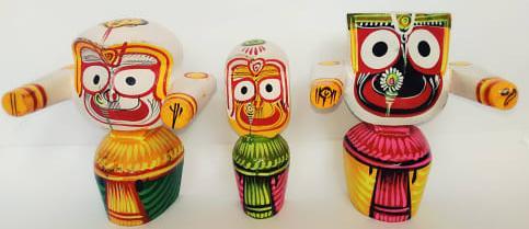 Wooden Idol of Lord JagannathMaa Subhadra Balabhadra Jee(#350)-gallery-3