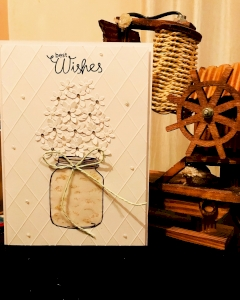 Handmade flowers greeting card