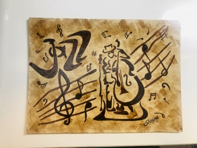 Musical theme Coffee Paintings