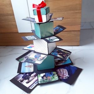 Square explosion box with tower