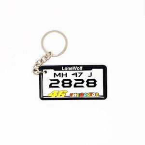 Customised Number plate Keychain