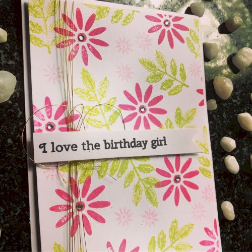 Handmade Birthday Card for your Girl friend