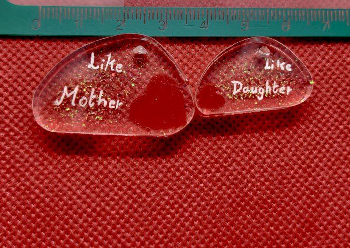 Mother & Daughter - Pair keychain or Pendant