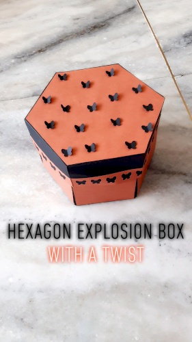 Hexagon box with tower