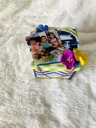 Explosion box With 3 layered Of messages, photos for Anniversary & Birthday.