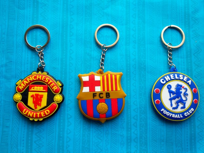 Double sided rubber Keychain