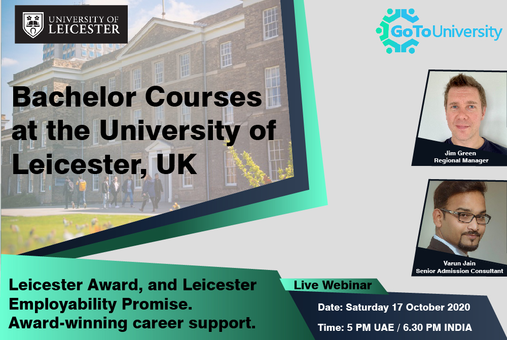 Bachelor courses at the University of Leicester UK