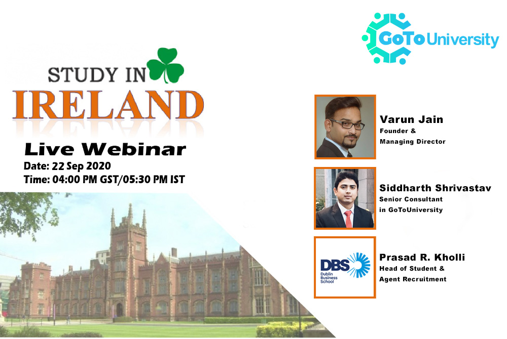 Live Webinar on Study in Ireland