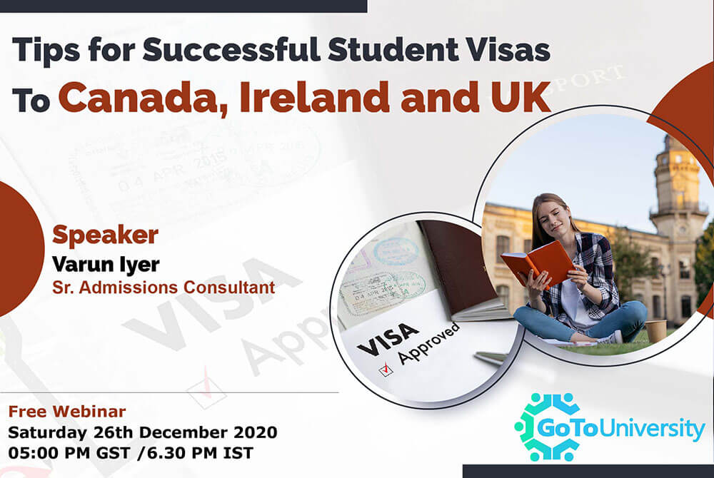 Student visas to Canada, Ireland and UK