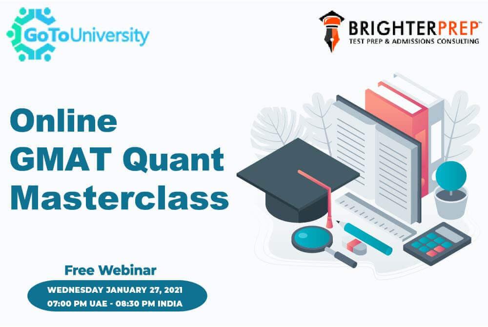 Online GMAT Quant Master Class