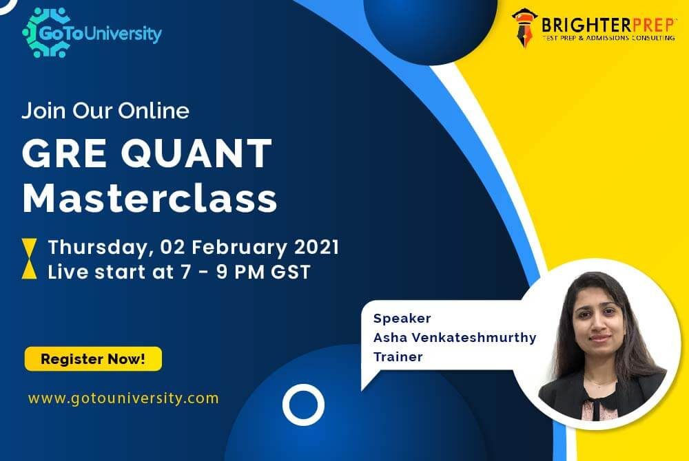 Online GRE Quant Master Class