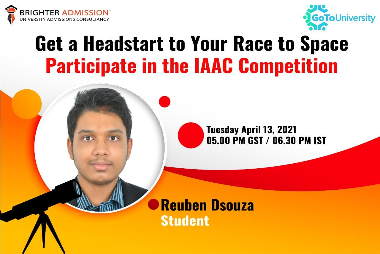 Get a Headstart to your Race to Space - Participate in the IAAC Competition