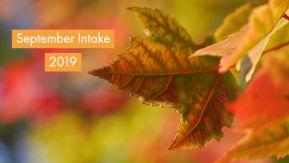 Apply for September Intake 2019