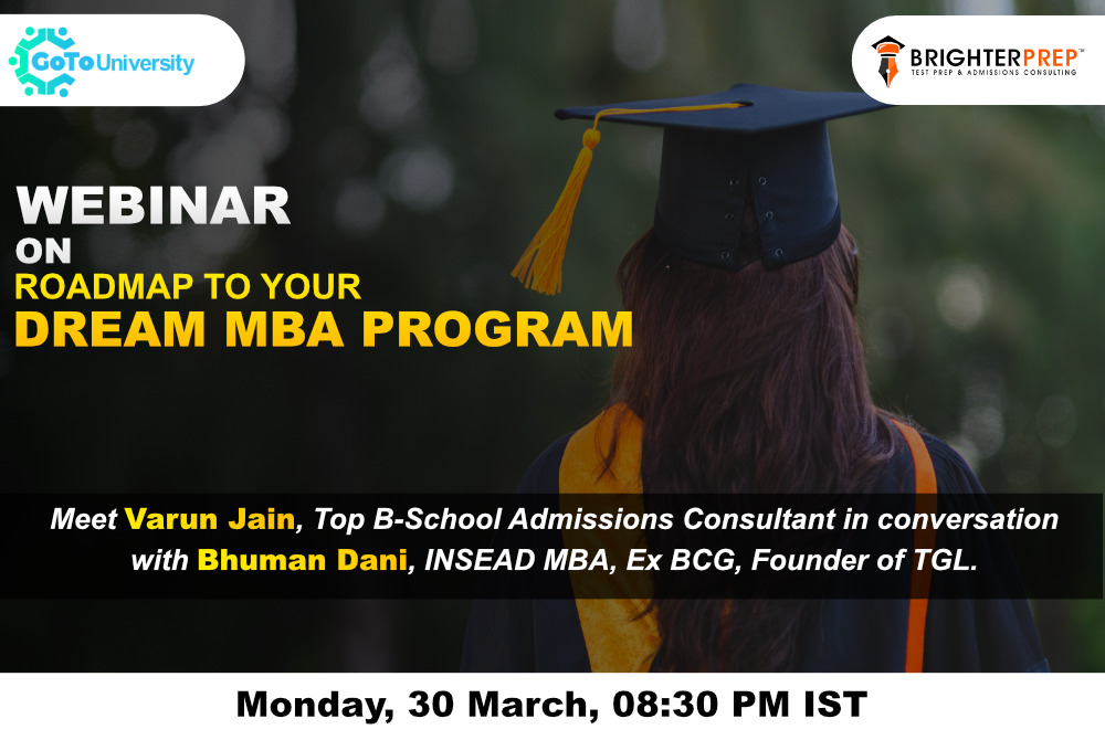 Road map to your DREAM MBA PROGRAM