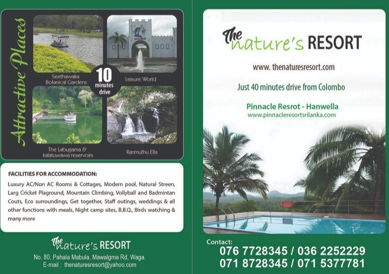 Day Outing-the Nature's Resort in Hanwella