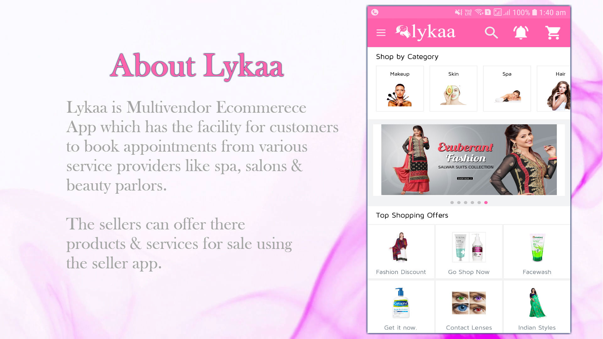 lykaa Multivendor Ecommerce & Spa Booking App - 1