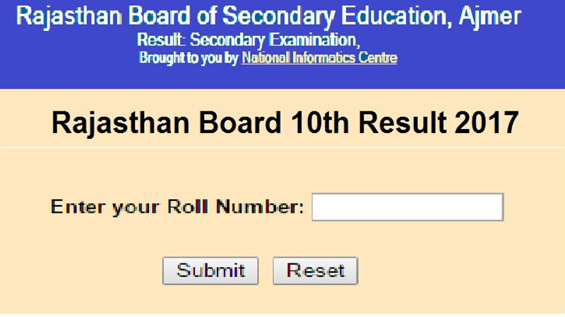 Rajasthan RBSE Class10th Results 2017 likely to be declared today at rajresults.nic.in