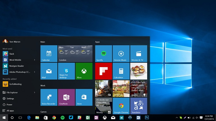 Microsoft has released a new test version of Windows 10