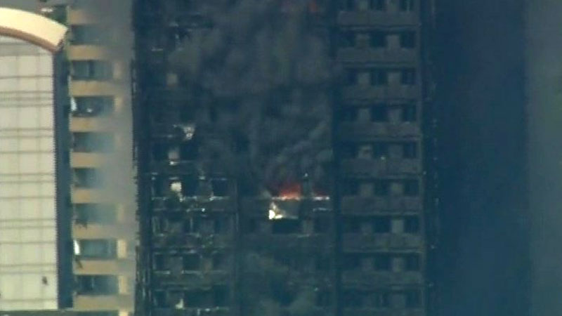 Latest visuals of Grenfell Tower in London