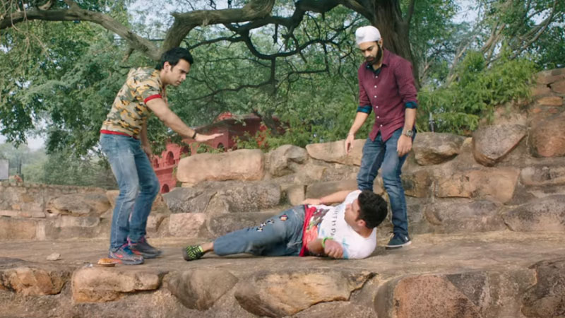 Screen grab from the Fukrey Returns trailer