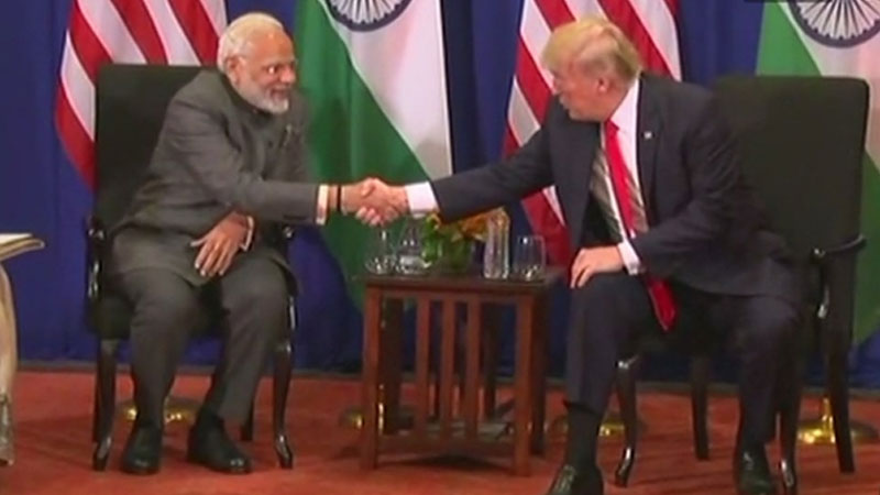 Prime Minister Narendra Modi holds talks with Donald Trump in Manila