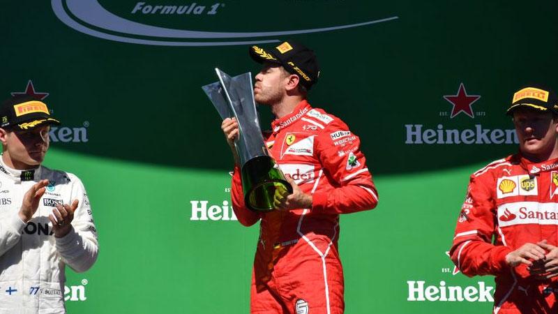 Sebastian Vettel wins Brazilian Grand Prix