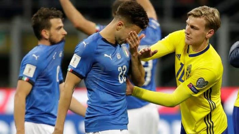 FIFA: Italy fail to reach World Cup for first time in 60 years