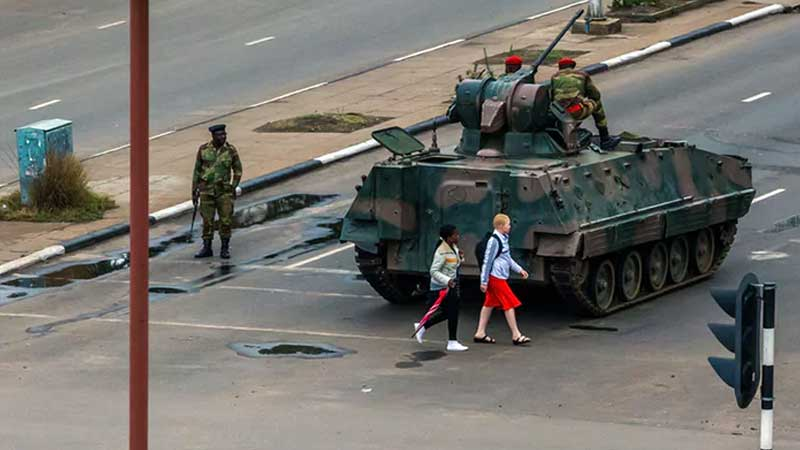 Zimbabwe in political limbo after military takeover