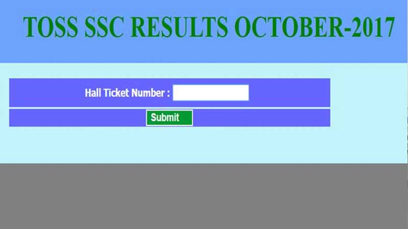 TOSS SSC, intermediate supplementary results 2017 released on official website telanganaopenschool.org