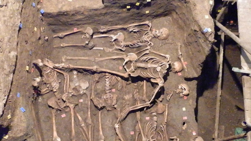 30 mass graves with over 1500 skeletons recovered in Czech Republic