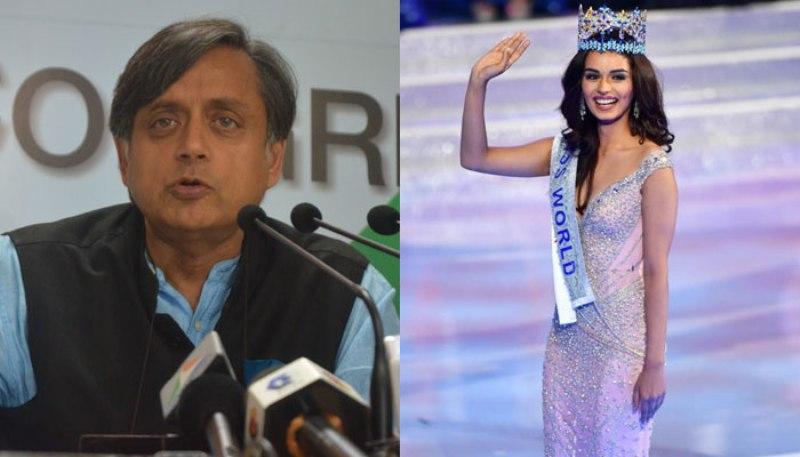 Miss World Manushi Chhillar takes Tharoor's tweet in jest