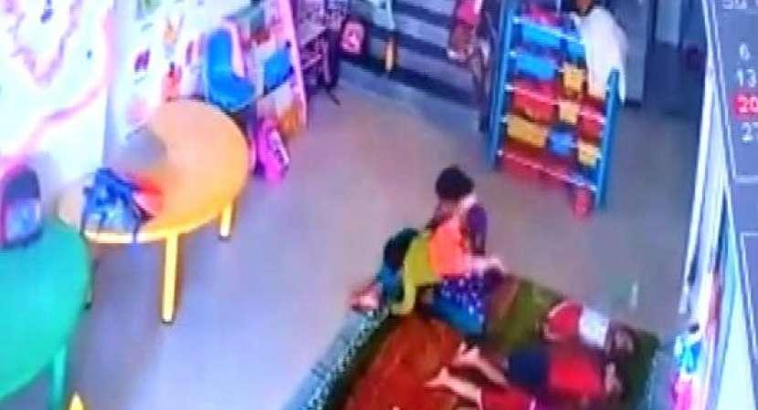 CCTV Footage: Caretaker beats up toddler in Navi Mumbai Play School