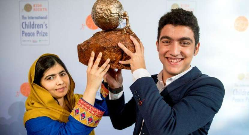 16-year-old Syrian boy wins Children's Peace Prize 2017 for building refugee school