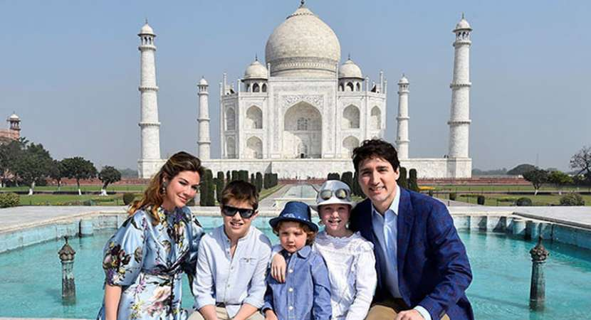 Justin Trudeau Visits India with Tour of the Taj Mahal