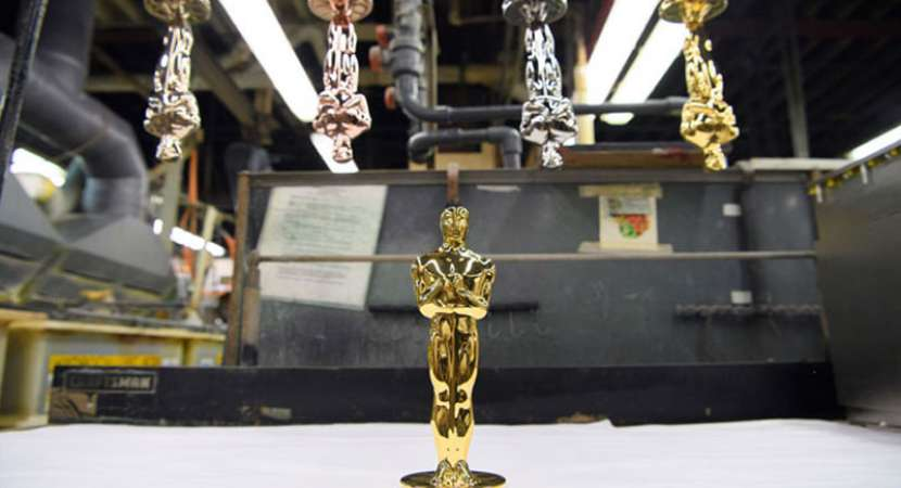 The Oscar statuette and NASA's telescopes are plated with the same gold