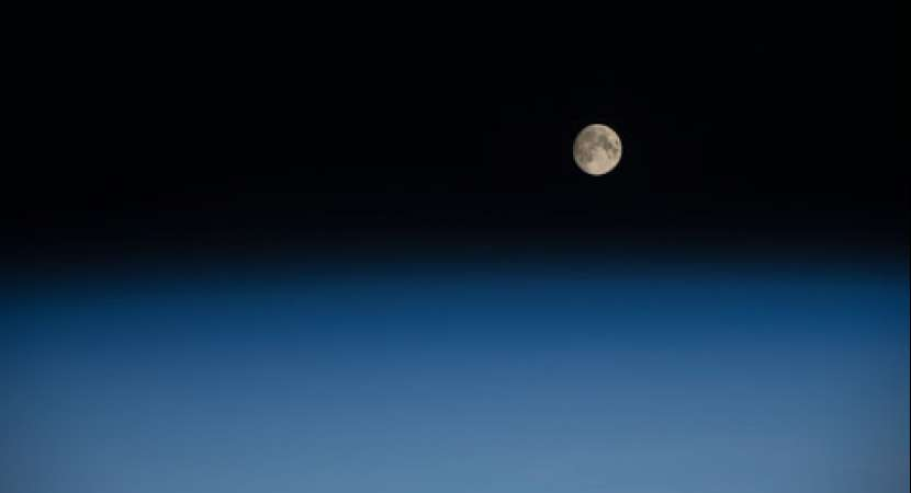 A picture of Moon captured by Nasa