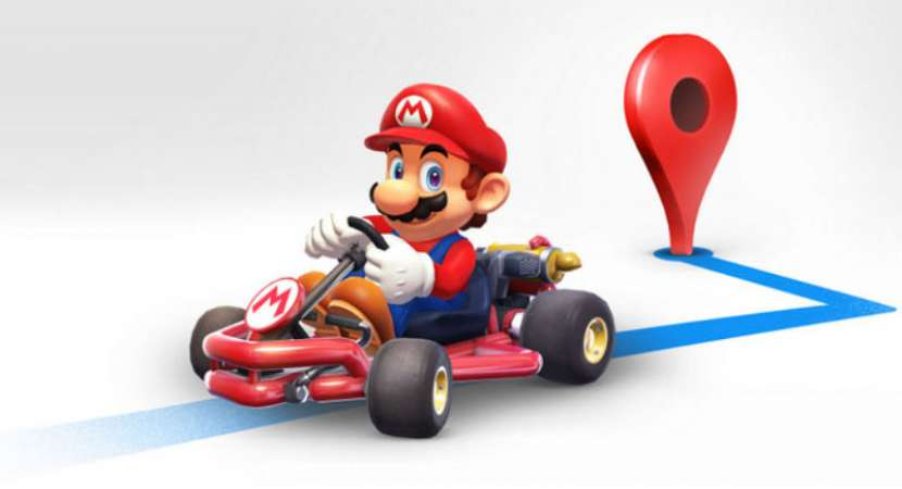 Drive around Google Maps with Super Mario