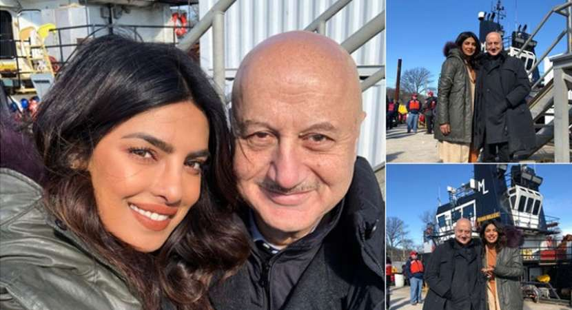 Priyanka Chopra's DDLJ moment when Anupam Kher surprised her on Quantico sets