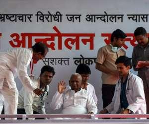 Lokpal issue: Anna Hazare starts hunger strike